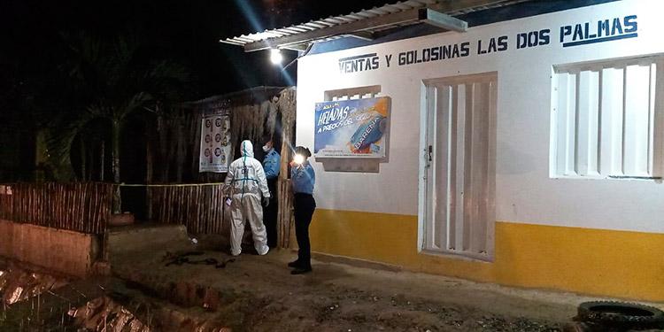 Otras tres personas fueron ultimadas el 13 de julio pasado, en este negocio de la comunidad de Los Almendros, del valle de Jamastrán.