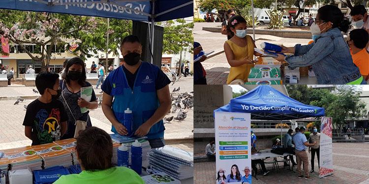 Material educativo para prevenir los embarazos prematuros fue entregado a adolescentes, en el centro de Tegucigalpa.