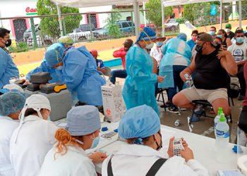 En todos los municipios de Francisco Morazán se realiza de manera masiva la vacunación contra el COVID-19, como en Talanga.