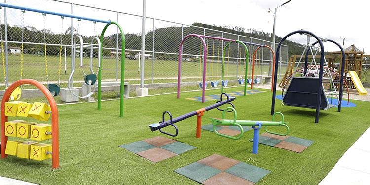 El Parque para una Vida Mejor en Ojojona está casi concluido y en este podrán recrearse las familias.