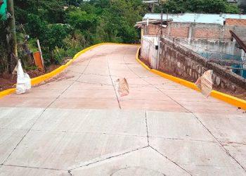 Los vecinos de la colonia La Era fueron beneficiados con calles de concreto hidráulico.