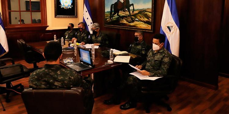 La reunión estuvo presidida por el jefe del Estado Mayor Conjunto de las Fuerzas Armadas, general Tito Livio Moreno Coello y el comandante del Ejército de Nicaragua, general Julio César Avilés Castillo.