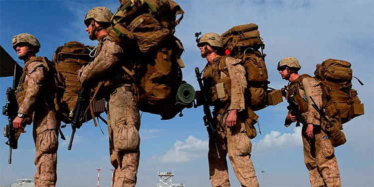 Tropas de EEUU saliendo de Afganistán.
