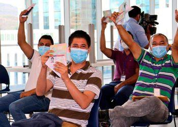 Con este nuevo grupo suman 112 los hondureños que estarán laborando de forma legal en los Estados Unidos.