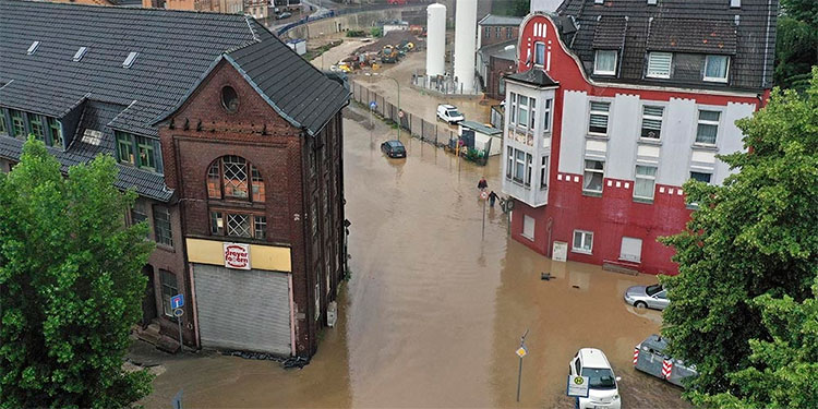 Las inundaciones en Alemania y Bélgica han hecho estragos.