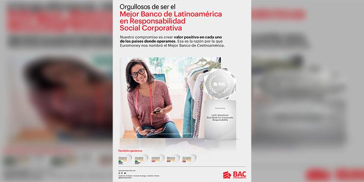 """BAC Credomatic es el """"Mejor Banco en Honduras"""", """"Mejor Banco en Costa Rica"""", """"Mejor Banco en Panamá"""" y por segundo año consecutivo """"Mejor Banco en Centroamérica y el Caribe""""."""