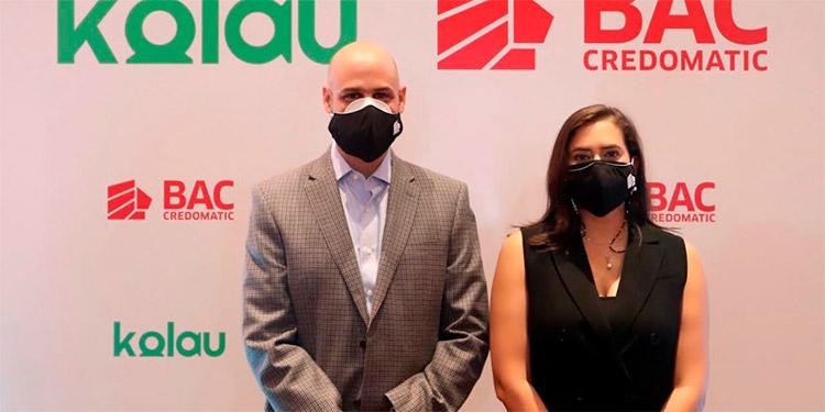 Sebastián Hidalgo, Vicepresidente Adjunto Comercios Afiliados BAC Credomatic y Valeria Ríos, Vicepresidente de Mercadeo y Comunicación BAC Credomatic.