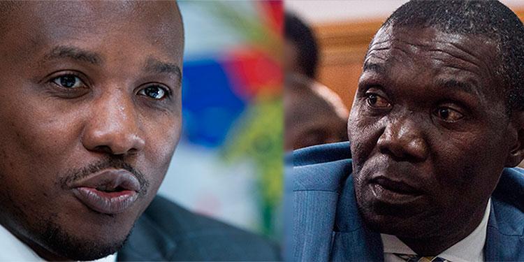 En la imagen el ministro de Relaciones Exteriores y Cultos de Haití, Claude Joseph y el senador Joseph Lambert.
