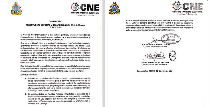 A pocos dias de las elecciones el CNE no cuenta con el presupuesto para realizar las elecciones.