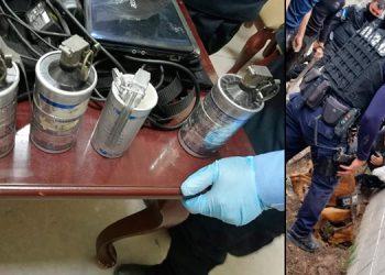 El dinero y armamento pasa a trámite legal para deducir responsabilidades, dijo la Policía.