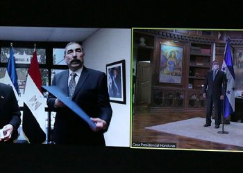 Egipto -Youssri Mohamed Khalil-, al momento de presentar sus cartas.