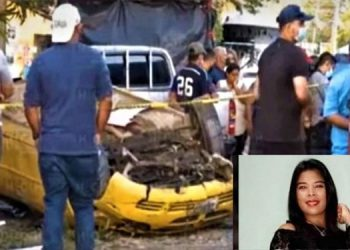 La joven Yanisa Vindel expiró cuando su vehículo amarillo en que se transportaba, volcó por causas no establecidas sobre la carretera CA-13.