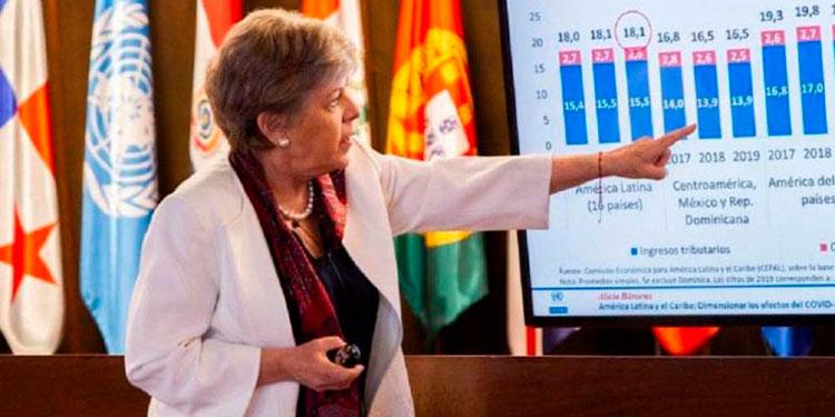 """Secretaria de la Cepal, Alicia Bárcena: """"En este escenario es difícil pensar que las entradas de IED hacia la región tengan un incremento superior al 5 por ciento en 2021""""."""