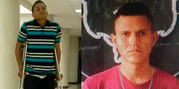 """José Alfredo Calles Escobar, alias """"El Cara Manchada""""; y Jean Carlos Fabricio Hernández, apodado """"El Chino""""."""