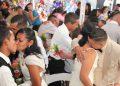 A pesar de la pandemia, muchos se apuntaron para las bodas gratis.