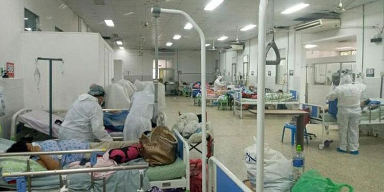 Muchos pacientes hospitalizados en Choluteca por COVID-19, no han recibido ni una dosis de vacuna contra la enfermedad.