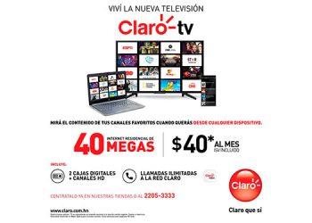 Televisión en todos lados es un servicio al cual tendrán acceso todos los usuarios a nivel nacional que contraten por primera vez Claro Hogar, obteniendo por streaming a través de la plataforma de Claro Video.