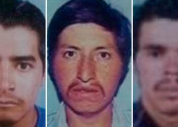 Juan Francisco Aguilar Benítez, Hedin Yoneri Aguilar Nolasco y José Emiliano Bautista.
