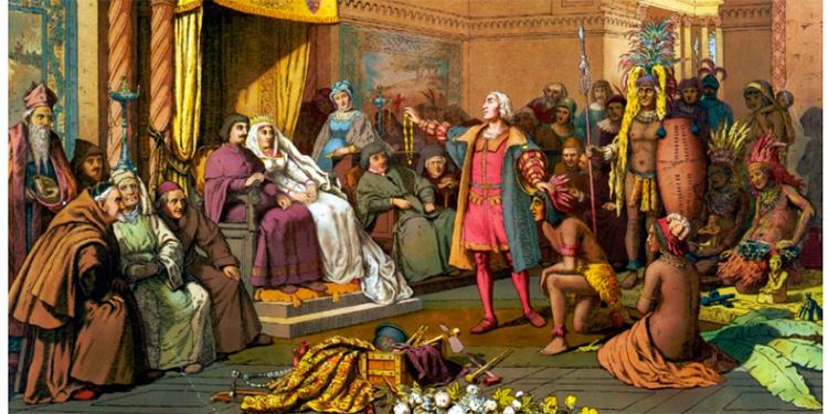 Los Reyes Católicos reciben a Cristóbal Colón tras su regreso de América / National Geographic