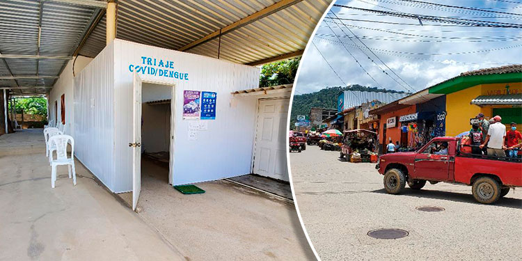 La actividad comercial en la ciudad de El Paraíso, se reactiva con dos dígitos diarios y, por ejemplo, ayer el triaje, a las 11:00 de la mañana, estaba vacío.