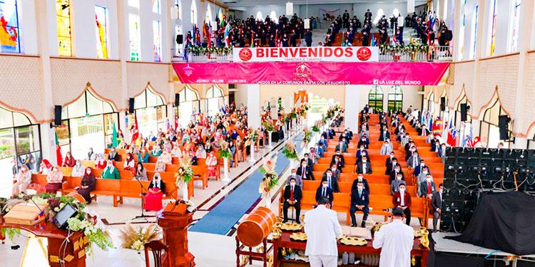 La majestuosa casa de oración ubicada en la ciudad de San Pedro Sula lució sus mejores galas, así como los templos representativos ubicados a lo largo y ancho del país.