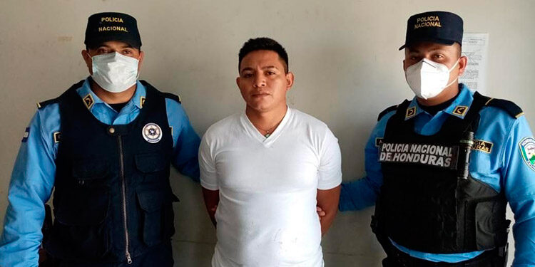 Jevin Samir Gómez González, fue detenido en Choloma, Cortés.