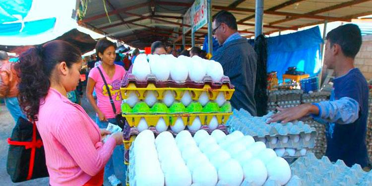 Más de 4 lempiras en promedio ha incrementado el cartón de huevo.