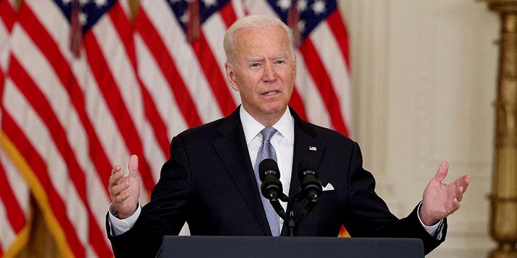El presidente estadounidense, Joe Biden, defendió el retiro de tropas de su país de Afganistánr (LASSERFOTO AFP)