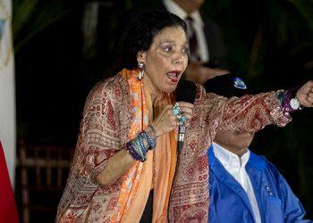 La Unión Europea impuso sanciones a la vicepresidenta de Nicaragua, Rosario Murillo, y otros siete funcionarios acusados de violaciones de derechos humanos. (LASSERFOTO  EFE)