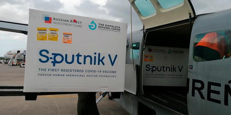 El sábado arribaron al país las 20 mil dosis del componente B, de la vacuna rusa Sputnik V.