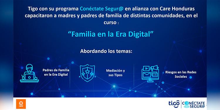 """El curso """"Familias en la Era Digital"""", tenía como objetivo educar a madres y padres de familia sobre los riesgos de los niños y adolescentes en el uso de las redes sociales, y al mismo tiempo enseñarles técnicas de mediación para su protección."""