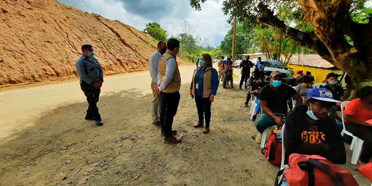 Debido al tránsito de migrantes de diferentes nacionalidades por el punto fronterizo de Trojes, se habilitará la IV Oficina de Protección a Niñez Migrante con apoyo de ACNUR y World Vision, en un terreno donado por la alcaldía.