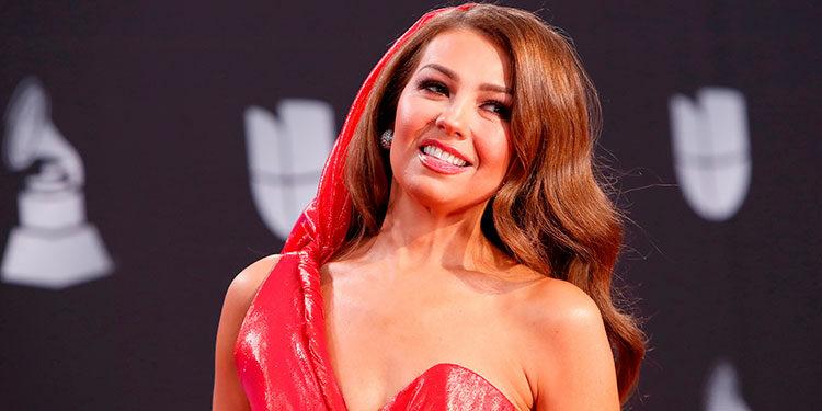 Thalía en 2019 en la 20 ceremonia de los Latin Grammy Awards, en la ciudad estadounidense de Las Vegas. EFE/EPA/NINA PROMMER