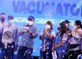 Junto a autoridades de Salud y la OPS/OMS, el Presidente Juan Orlando Hernández agradeció a todos los colaboradores que hicieron posible el Vacunatón en beneficio de los pobladores del Distrito Central.
