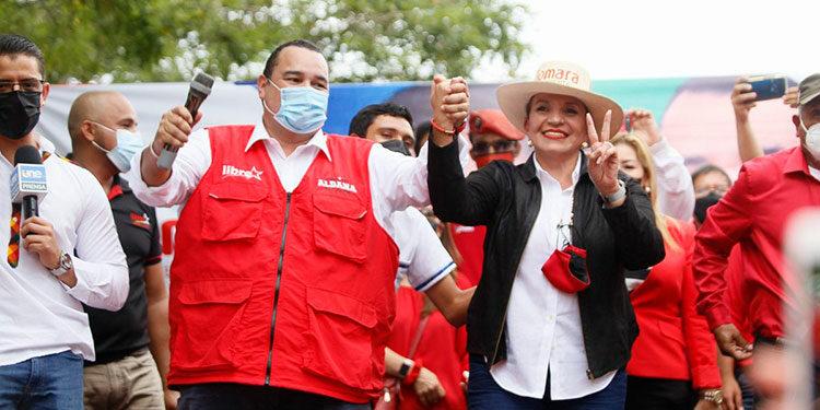 La presidenciable Xiomara Castro de Zelaya, el aspirante a alcalde capitalino, Jorge Aldana y los 23 aspirantes a diputados de FM por Libre, han redoblado sus giras.