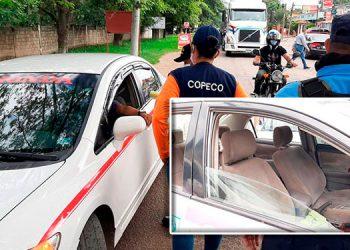 Los taxistas paralizaron la circulación en Danlí, por dos horas y Sinager les dio 72 horas para volver a colocar las mamparas.