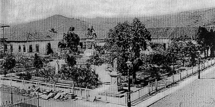 1 La plaza Morazán a principios del Siglo XX