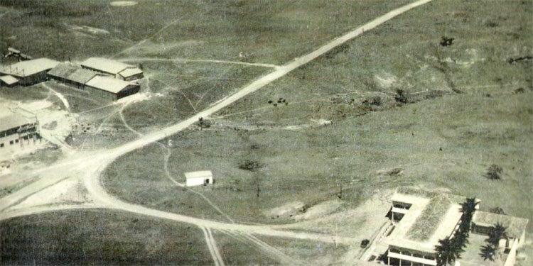 1 Foto aérea de los años treinta de la planicie de Toncontín