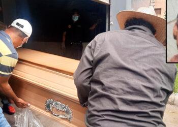 El cuerpo de Óscar Renán Colindres Velásquez (foto inserta), ayer mismo fue retirado de la morgue capitalina por sus parientes.