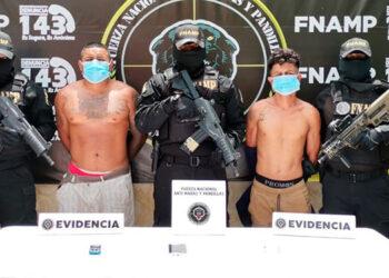 """José Robery Cáceres Castillo (22), alias """"El Nene""""; y Edín Noel Oseguera Mazariegos (34), alias """"Nel""""."""