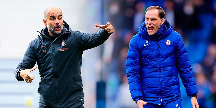 Pep Guardiola y Tuchel a duelo técnico-táctico hoy en Inglaterra.