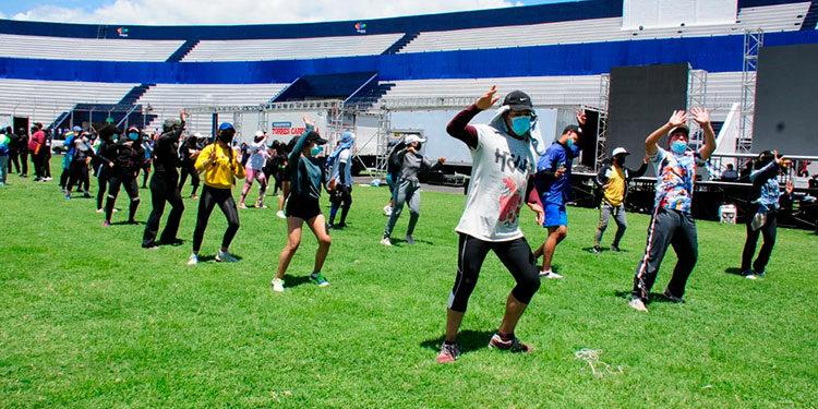 Las personas tendrán que cumplir con las normas de distanciamiento en el estadio Nacional de Tegucigalpa.