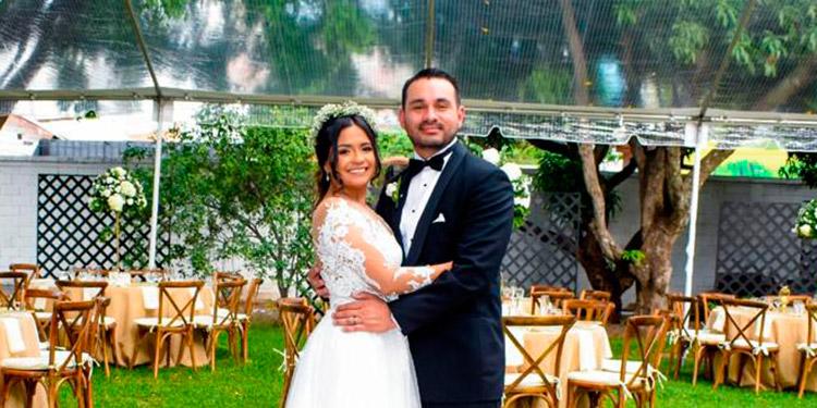 Giselle y Gary celebraron su boda en Casa San Carlos.