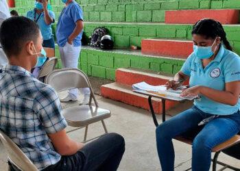 Apenas 5,000 jovencitos se habían vacunado hasta hoy, en diez días de inoculación a menores en El Paraíso.