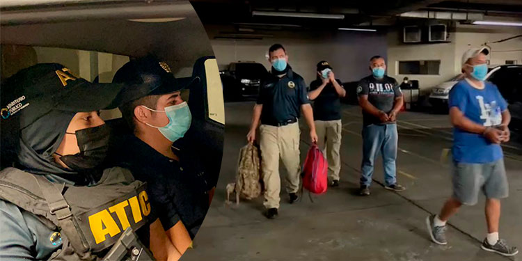 Los tres señalados fueron detenidos el sábado en La Ceiba, Atlántida.