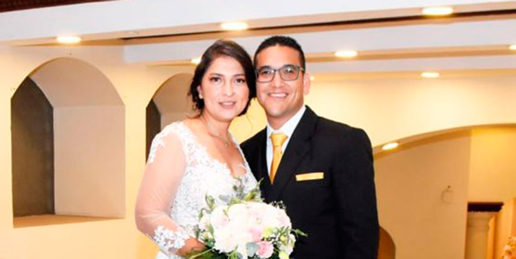 Nolvia Amador y Óscar Machado.
