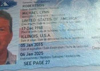 Los encargados identificaron el cadáver de Michael Lynn Robertson, mediante su pasaporte número 525550531, de nacionalidad estadounidense.