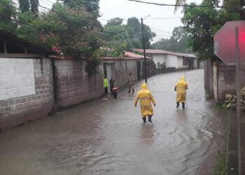 Con la presencia de unos pocos acumulados de lluvias, algunos sectores de Copán Ruinas resultaron inundados.