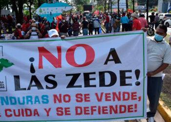 La movilización se originó con el objetivo de no aprobar la instalación de las ZEDE.