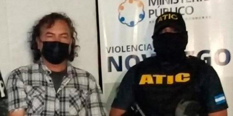 Javier Benítez fue arrestado por la ATIC el domingo 5 de septiembre, en Marcala, La Paz.